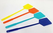 8 X  BRIGHT COLOURED LIGHTWEIGHT LONG HANDLED FLY SWAT SWATTERS   PEST11X2