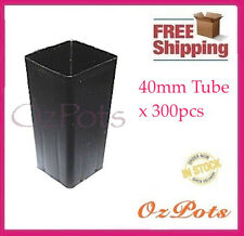 40mm Plastic Tube Pots Square x 300pcs - Propagation, Seedling, Cuttings - PC