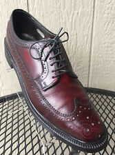 Bostonian Burgundy Leather Brogue Wingtip Oxfords Dress Shoe Men 10 B/AA 11