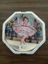 """Shirley Temple """"Stand Up and Cheer"""" Collectors Plate from Danbury Mint #A9148"""