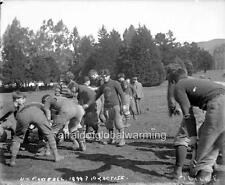 "Photo 1898-1900 Univ Calif Berkeley ""Football Practice"""