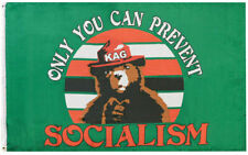 Trump anti socialism flag only you can prevent keep America Great flags Rare USA
