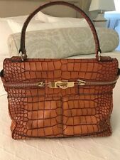 Max Mara Leather Bag - Croc Embossed Made in Italy