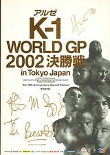 Mark Hunt & Bob Sapp Signed 2002 K-1 Grand Prix Program PSA/DNA UFC Pride Auto'd