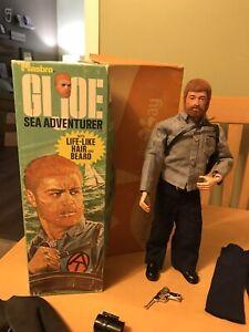 "Vintage 12"" GI JOE Sea Adventurer With Top Box And Accesories Lot 1964 USA"