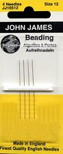 John James Size 12 Beading Needles Qty 1