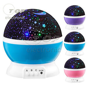 Stars Sky LED Night Light Projector Moon Light Battery USB Bedroom Party