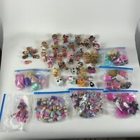 Huge Lot LOL dolls, babies pets glasses hair cups accessories AS IS