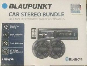 "Blaupunkt Omaha206 CD & MP3 Receiver with Pair 6.5"" Speaker Bundle - BRAND NEW"