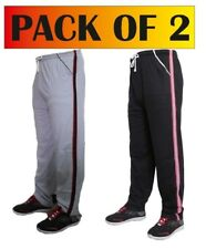 [Pack of 2]Mens Sports/Casual High Quality Track pants-Black and Grey 100%Cotton