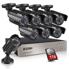 ZOSI 8CH 1080P DVR 1500TVL Outdoor Home Surveillance Security Camera System 1TB