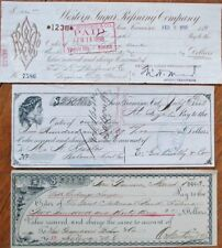 San Francisco, CA 14 DIFFERENT 1880-1900 Bank Checks / Cheques