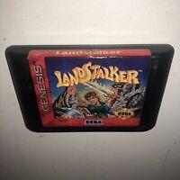 AUTHENTIC Sega Genesis LANDSTALKER Game Cartridge Tested & Working SAVES Fun