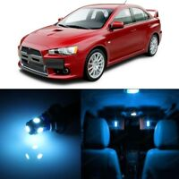 6 PCS LED Lights For 2008-2017 Mitsubishi Lancer EVO X Interior Package BLUE