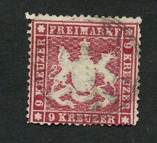 Altdeutschland Württemberg 1861 Mi.19y b gestempelt sh.Scan (1)