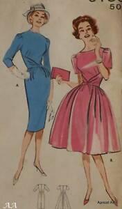 1960s Vintage Butterick Pattern 9136 Wiggle Dress & Full Circle Size 12 Bust 32