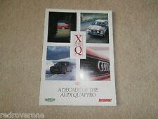 Audi a Decade of the QUATTRO.1980/90. Promotion Brochure  Collectors condition.