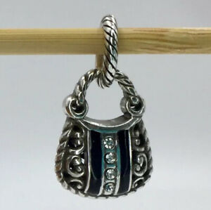 Brighton Downtown Hobo Bag J96462 Silver/Stone/Black Jewelry Collectible NWOT