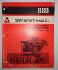 Allis Chalmers 880 Cotton Harvester Picker Operators Owners Manual AC Original!