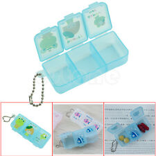 Travel 3 Compartment Pill Box Medicine Tablet Holder Organizer Dispenser Case