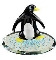 Glass Baron Snow Dance Penguin Figurine Accented with Swarovski Crystal Eyes