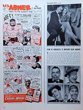 Li'l Abner by Al Capp - fun Cream of Wheat color comic ad - March 15, 1943