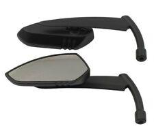 Paire de Rétroviseurs Noir en métal pour moto custom harley ou jap'  913915