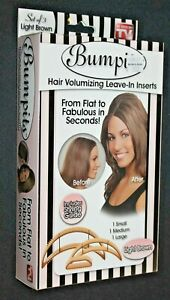 Bumpits Hair Volumizing Leave-in Inserts & Styling Guide - Light Brown