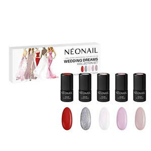 NEONAIL WEDDING DREAMS Collection Set 5x Nagellack 3ml Rot, Pink, Beige, Silber