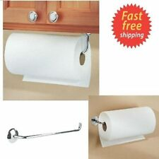 Kitchen Paper Towel Roll Holder Wall Mount Under Cabinet Rod Horizontal Hanger