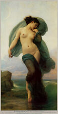 Evening Mood Art Poster Print by William Adolphe Bouguereau, 10x19
