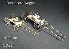 BUCKBOARD WAGON HO Scale Model Railroad Unptd Wood Laser Kit GMBKH