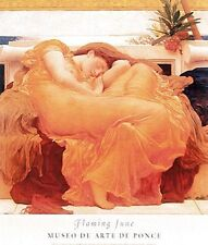 """""""Flaming June"""" by  Frederic Lord Leighton- Neo Classical Art Print - Female naps"""