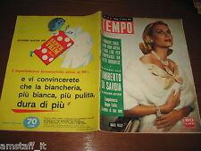 RIVISTA TEMPO 1958/13=GRACE KELLY COVER=PIETRO GERMI=GIANNA MARIA CANALE=