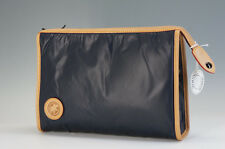 Unused Authentic HUNTING WORLD Clutch Bag Navy BATTUE Free Ship 922f39