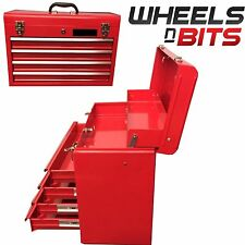 "4 Drawer Tool Box Chest 22"" Inch 56cm lockable Portable with handle Heavy Duty"