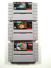 Super R-Type, Darius Twin, Street Fighter II - SNES - Cart Only, Tested