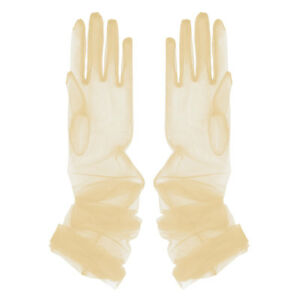 2x Long Tulle Full Finger Gloves Opera Wedding Bridal Evening Party Prom Costume