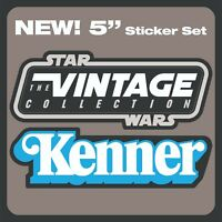 "NEW! Set of 2 Kenner and ""STAR WARS The Vintage Collection"" logo 5"" stickers"