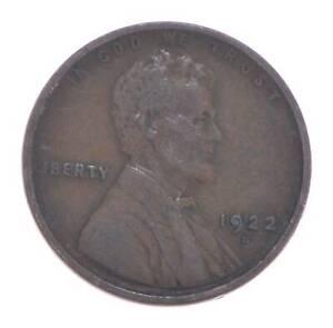 Semi Key 1922-D VF/XF Lincoln Wheat Cent - Sharp *545