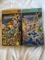 BOXED/ROCKMAN X& X2 Capcom SFC SNES /Japanese Version USA Seller In Plastic Case