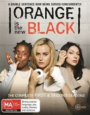 Orange Is The New Black : Season 1-2 (Blu-ray, 2015, 6-Disc Set)