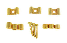 "3pc. Set of Gold ""Tree Style"" Guitar String Retainers with Hardware - 31-39-01"