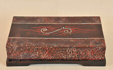 Painted inlaid Japanese laquer box
