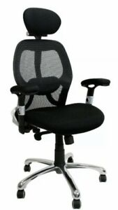 New Ergo High Back Mesh Office Chair Head Rest Adjustable Arms Lumbar Support