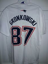 Rob Gronkowski New England Patriots football jersey T-Shirt Super Bowl XLVI 51 M