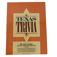 Texas Trivia Game Lone Star State 1984 NEW in Shrink Wrap Unopened Vintage