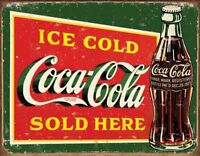 Coke – Ice Cold Green Retro Tin Sign 13 x 16in