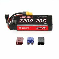 Venom 20C 3S 2200mAh 11.1V 3 Cell LiPo Battery with Deans EC3 Traxxas UNI Plug