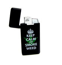 Mini Pocket Gas Lighter Keep Calm And Smoke Windproof Lighters Refillable